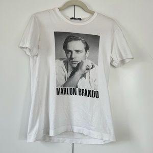 Dolce & Gabbana Marlon Brando graphic tee vintage